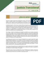 Que Es La Justicia Transicional