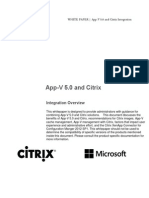 App v 5 and Citrix Integration