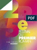 Introduction Festival Du Premier Roman de Chambéry 2011_24!02!2014