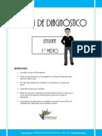 Prueba de Diagnostico Lenguaje 1medio 2013