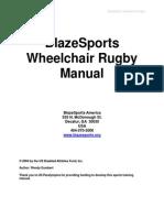 Blaze Sports Wheelchair Rugby Manual
