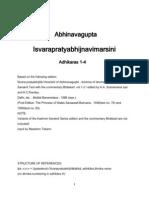 Abhinavagupta - Isvarapratyabhijnavimarsini - Roman Transliteration