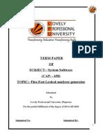 Flex-Fast Lexical analyzer generator