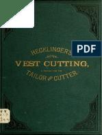 Vest Cutting, Pratica Tailor and Cutter - Hecklinger, Charles