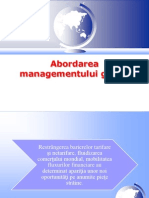 Prezentare Management Global