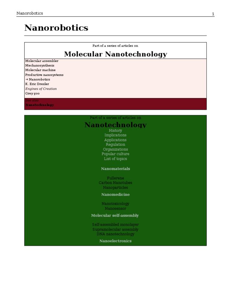 Nano Robotics | Nanotechnology | Science And Technology