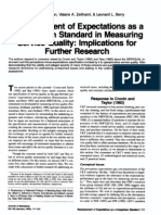 Reassessment of Expectations as a Comparison Standard in Measuring Service Quality- Implications of Future Research