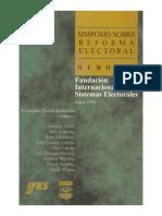 1997  Simposio Sobre Reforma Electoral. Sistema Electoral Peruano