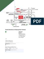 Transit Directions to Puduraya Bus Terminal