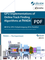 GPU Implementations of Online Track Finding Algorithms at PANDA