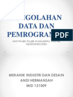 materi kuliah Pengolahan Data Dan Pemrograman