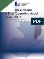 Guia de POA 2014 Municipalidades