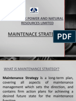 Maintenance Strategy