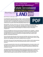 Real Estate Investment -Part 7 (SR07) of How to invest into anything?