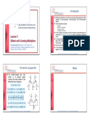 7 Gilbert Cell & Analog Multipliers (4p)   Detector (Radio