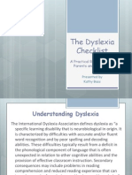 the dyslexia checklist