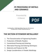 Particulate Processing of Metals and Ceramics