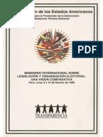 1999 Seminario legislación y organización electoral