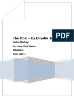 The Goal - Book Review - DevKaranSinghMaletia - 12BM60060