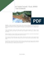 Artikel Tentang Bencana Alam