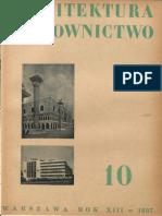 Architektura i Budownictwo, nr 10 1937