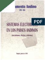 1999 Parlamento Andino. Sistema electoral y fragmentación partidaria