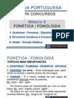 Módulo 03 - Aula 001 - Fonética Fonologia - Grafemas Fonemas Dígrafos Dífonos