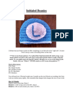 Initialed Beanies (Newborn-Adult)