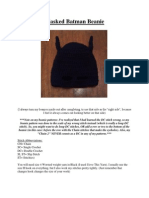 Masked Batman Beanies (Newborn-Adult)