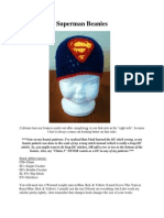 Superman Beanies (Newborn-Adult)