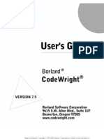 Code Wright Userguide 750