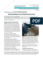 Understanding the Arctic Marine Environment
