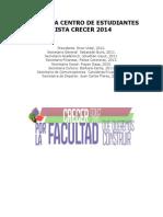 Programa Centro de Estudiantes Crecer 2014