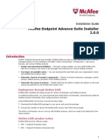 Endpoint Advance Suite Install Guide