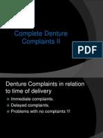 Complete Denture Complaints II
