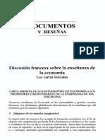 Cataño, José Félix - Discusión Francesa Sobre La Enseñanza de La Economía