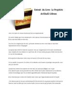 Khalil Gibran Extrait Le Prophète