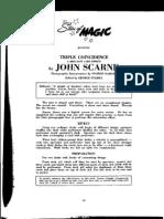 Stars of Magic - John Scarne - Triple Coincidence