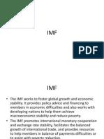 IMF & WTO