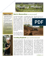 Planting Malawi October 2009 newsletter