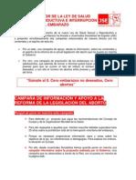 Infojoven campaña  reforma IVE y prevención embarazos
