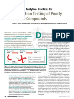 Dissolution Testing of Poorly