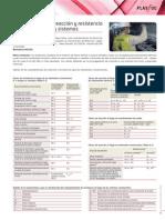 Tablas de Las Caracteristicas de Reaccion y Resistencia Para Los Elementos Constructivos.