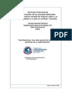 2003 Seminario Modernización de los procesos electorales. El voto electrónico