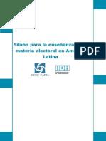 2004 CAPEL. Silabo para la enseñanza de la materia electoral en América Latina