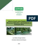 Informe Ambiental Recursos Naturales Antioquia 2011-2012