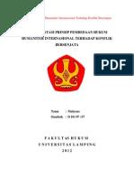 Makalah Hukum Humaniter Internasional Terhadap Konflik Bersenjata