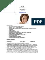 Sample Childcare Resume
