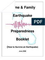 Home Family Preparedness Earthquake Booklet
