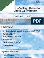 2013 UC Voltage Optimization and CVR Case Study - Tyler Patton